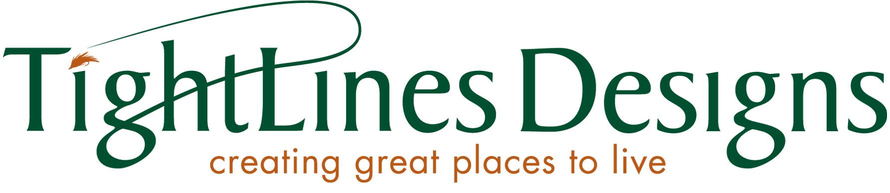 TightLines Designs logo with tagline